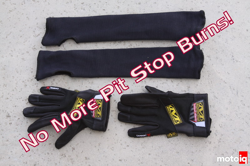 Mechanix Wear kevlar sleeves and Team Issue Carbon-X gloves