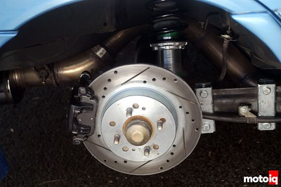 Rear disc brake upgrade