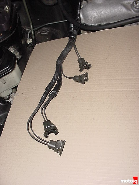 ga16de turbo project 200sx evil twin notnser MSD injector clip harness