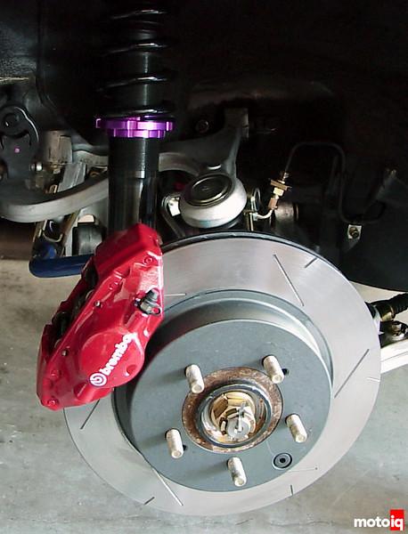 HKS Hyperdamper II reart suspension in plave EVO XIII