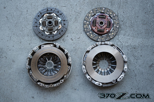 Stock Nissan 370Z clutch vs JWT heavy duty