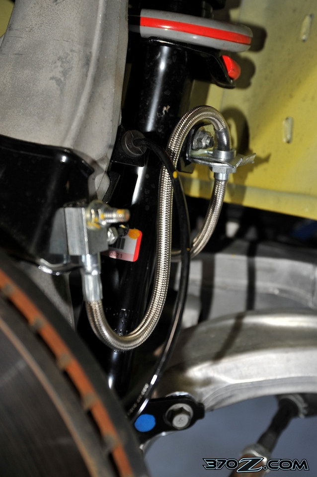 G-Spec 370Z nissan braided steel brake line install