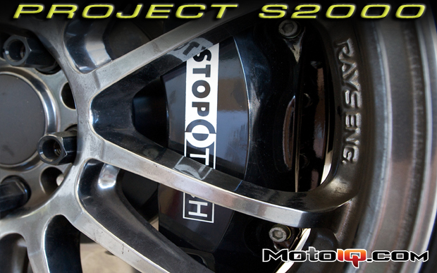 Project Honda S2000 Stoptech big brake upgrade