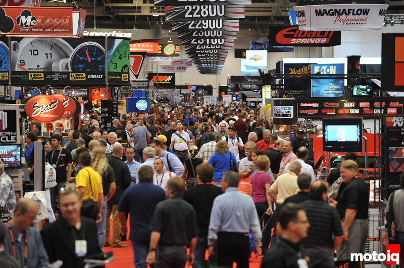 View from the SEMA show floor