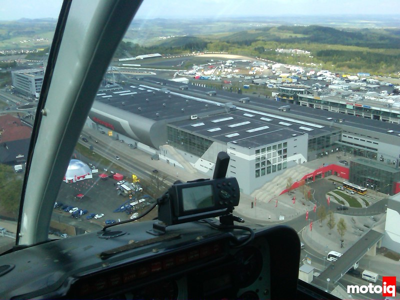 Nurburgring from a helicopter, bitch!