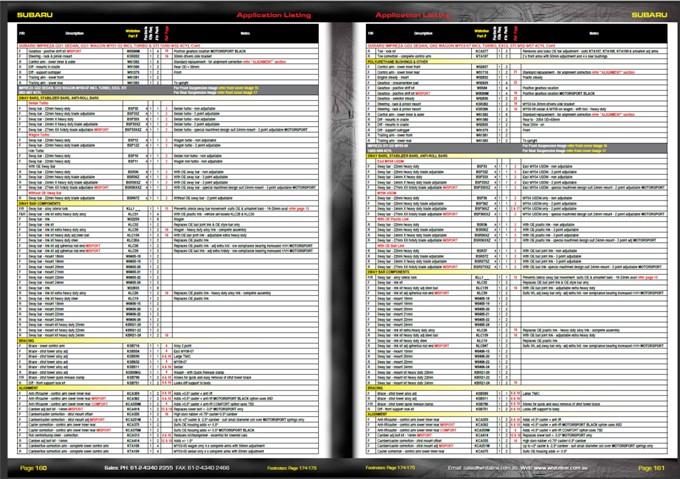 Whiteline Catalog Sample