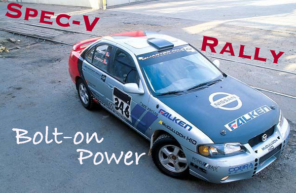 Nissan Sentra SE-R Spec-V Rally CRS SCC Sport Compact Car Dave Coleman