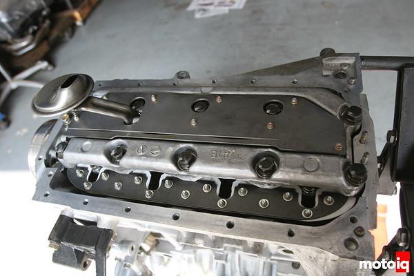 Nissan SR20DE Crank scraper and windage try in place