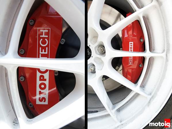 Mode Racing Time Attack Hyundai Genesis StopTech front and rear brakes