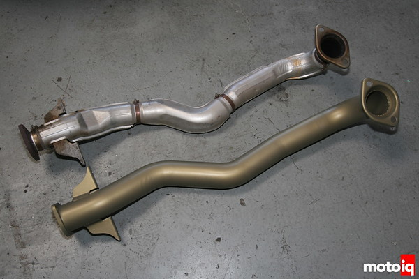 WORKS EVO Downpipe vs stock