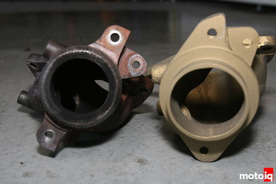 WORKS EVO VIII IX O2 Sensor Housing vs Stock